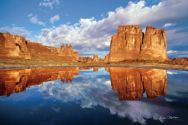 Courthouse Towers Wall Art - Photograph - Pothole Reflections by Dan Norris