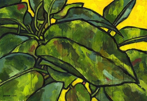 Potted Plant Painting - Pothos 2 by Douglas Simonson