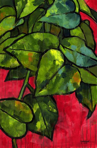 Potted Plant Painting - Pothos 3 by Douglas Simonson