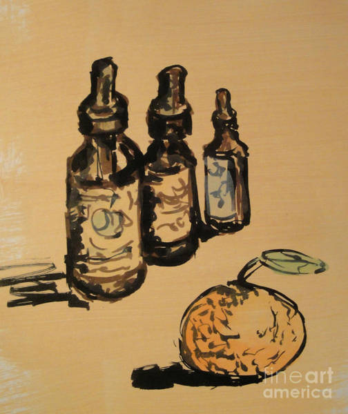 Painting - Potions by Maria Langgle