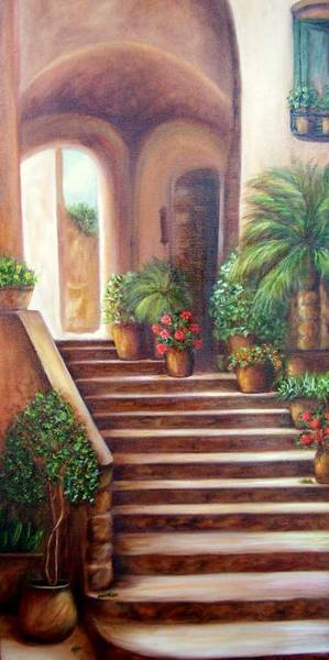 Painting - Pots On The Villa Steps by Susan Dehlinger