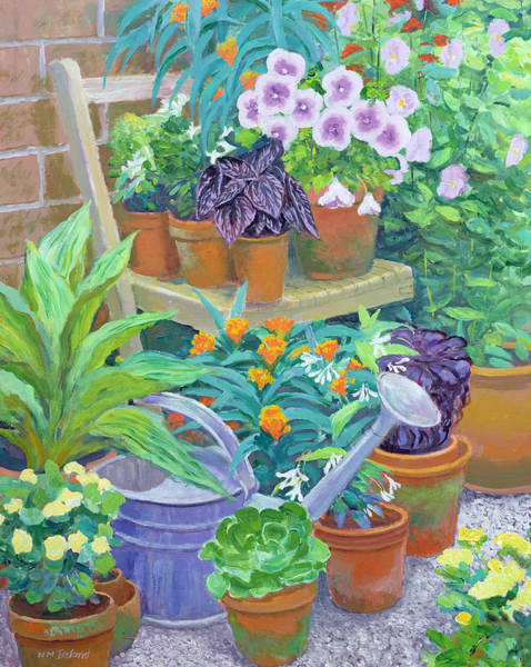 Terracotta Painting - Pots by William Ireland