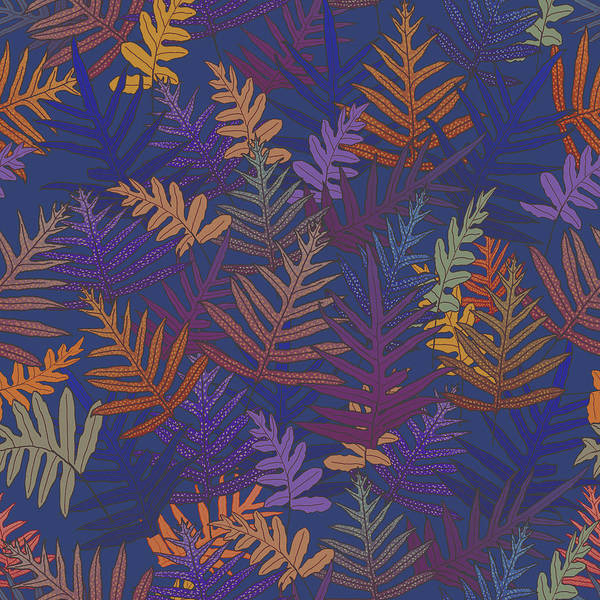 Digital Art - Potter's Clay Ferns by Karen Dyson