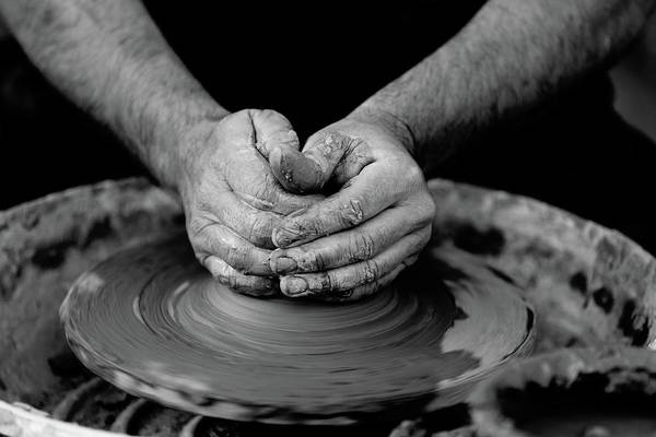 Potters Wheel Wall Art - Photograph - Potters Wheel Creation by Billy Soden