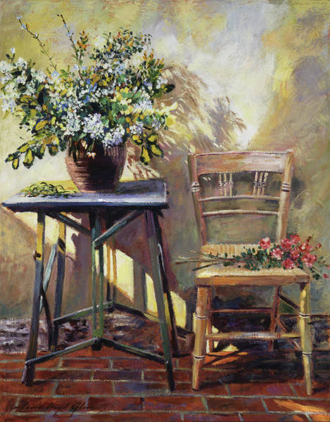 Wall Art - Painting - Pottery Maker's Table by David Lloyd Glover