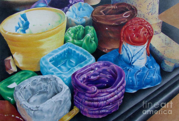 Painting - Pottery Princess by Pamela Clements