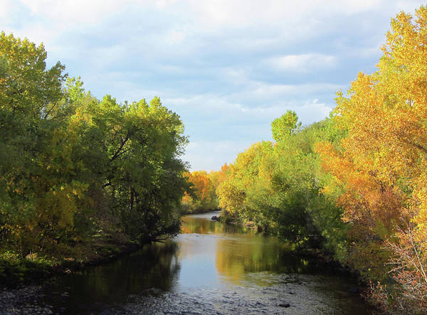Wall Art - Photograph - Poudre River In Fall by Marilyn Hunt