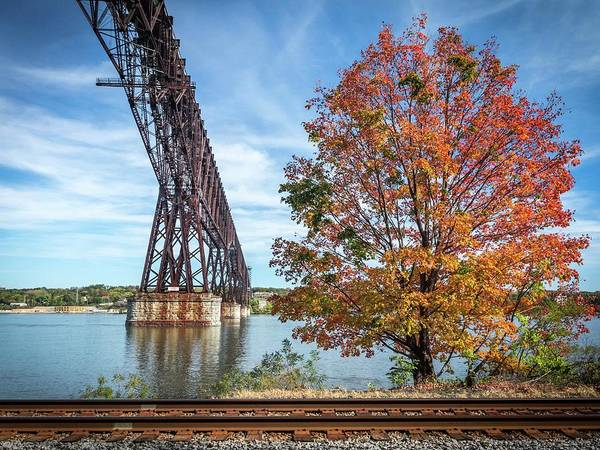 Photograph - Poughkeepsie Autumn #2 by Framing Places