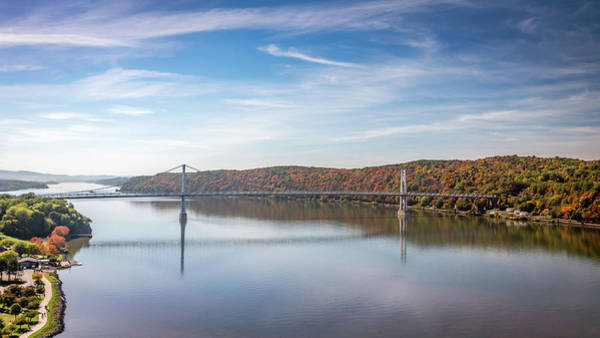 Photograph - Poughkeepsie Autumn River by Framing Places