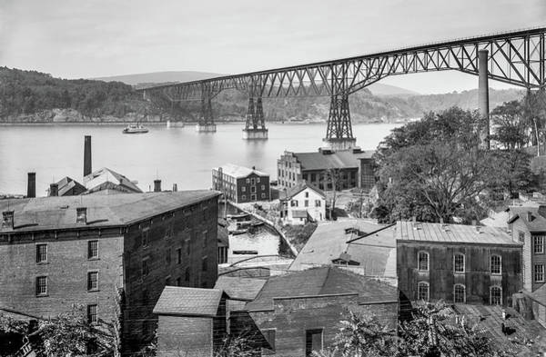 Hudson Valley Wall Art - Photograph - Poughkeepsie Waterfront In 1903 by The Hudson Valley