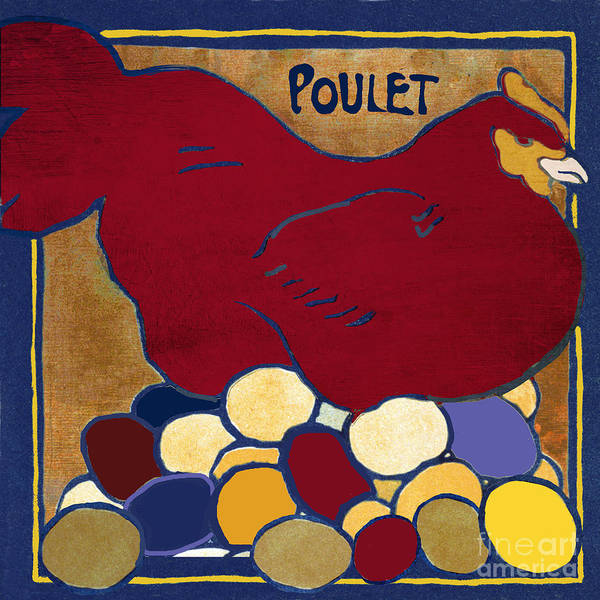 Wall Art - Painting - Poulet II by Mindy Sommers