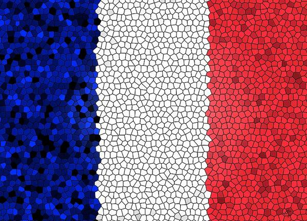 Digital Art - Pour La France by Marian Palucci-Lonzetta