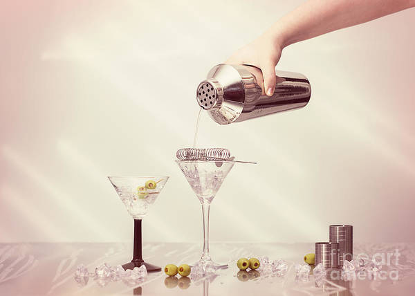Cocktail Shaker Photograph - Pouring A Martini by Amanda Elwell