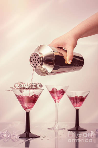 Pouring Photograph - Pouring Cocktails by Amanda Elwell