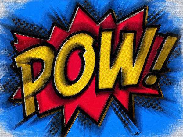 Painting - Pow 1 by Tony Rubino