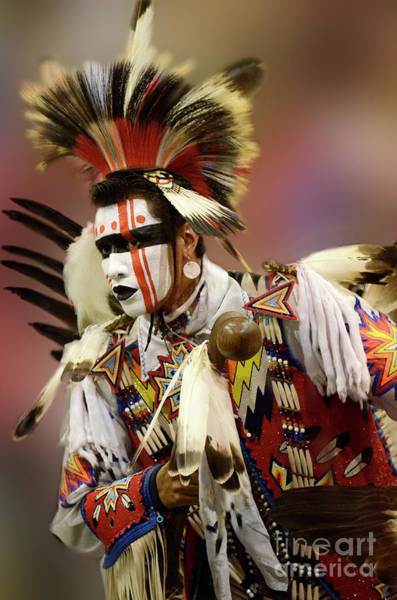 Beading Photograph - Pow Wow Chicken Dancer 1 by Bob Christopher