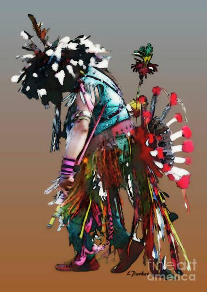 Powwow Wall Art - Photograph - Pow Wow Dancer by Linda  Parker