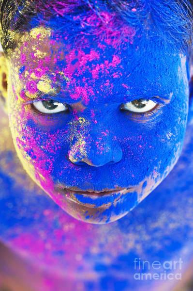 Holi Photograph - Powder Boy by Tim Gainey