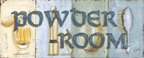 Wall Art - Painting - Powder Room by Debbie DeWitt