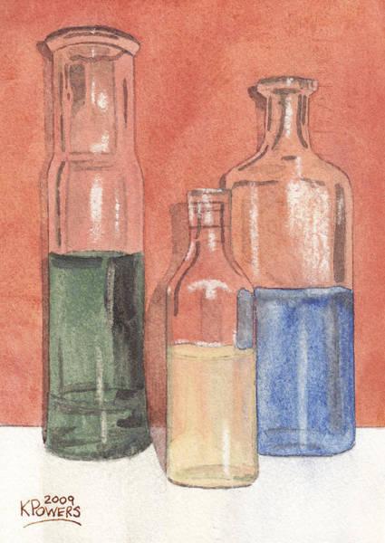 Painting - Power Failure Prescriptions by Ken Powers