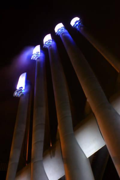 Village Creek Photograph - Power Glow by Barbara  White