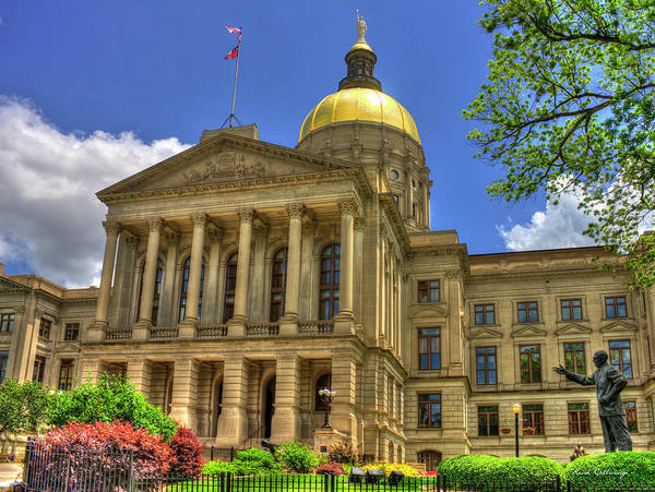 Capital Of Georgia Photograph - Power House 4 Georgia State Capital Art Atlanta Ga Art by Reid Callaway
