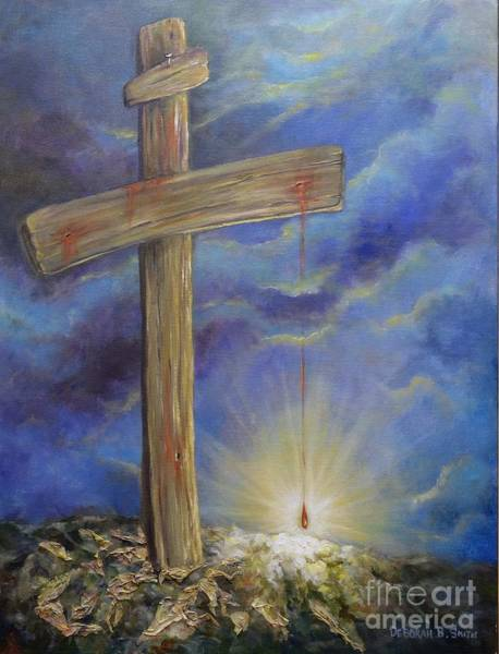 Scriptural Painting - Power In The Blood by Deborah Smith