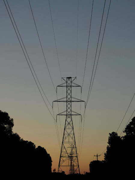 Photograph - Power Lines At Sunset by Karen Harrison