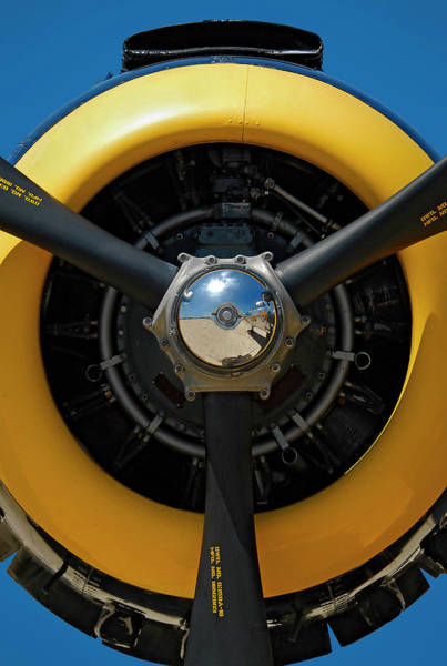 Radial Engine Photograph - Power On The Wing by Murray Bloom
