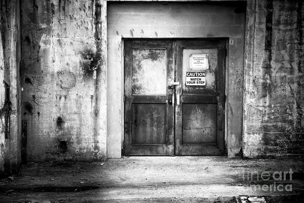 Photograph - Power Plant Door 1 Bw by Patrick M Lynch