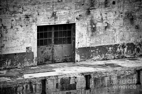 Photograph - Power Plant Door 2 Bw by Patrick M Lynch