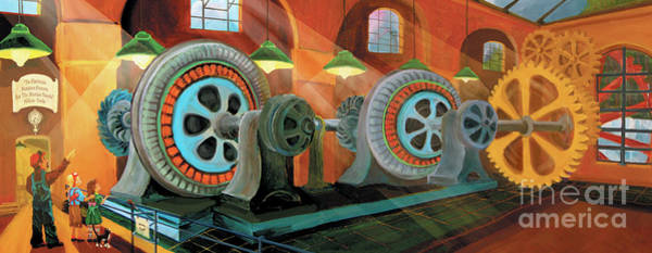 Painting - Power Plant Turbines by Donna Hall