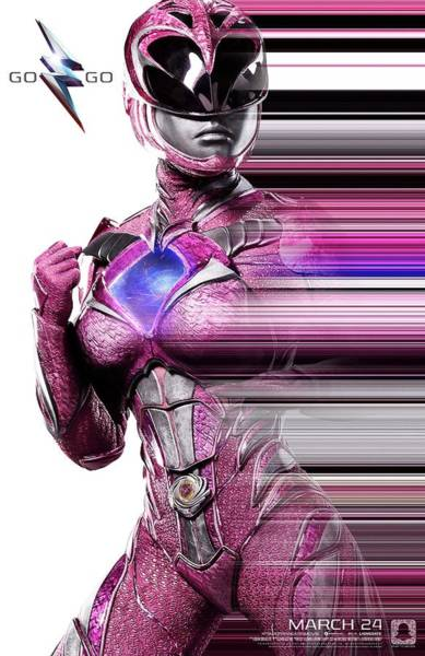 Wall Art - Digital Art - Power Rangers 2017 - Pinkstreak by Geek N Rock