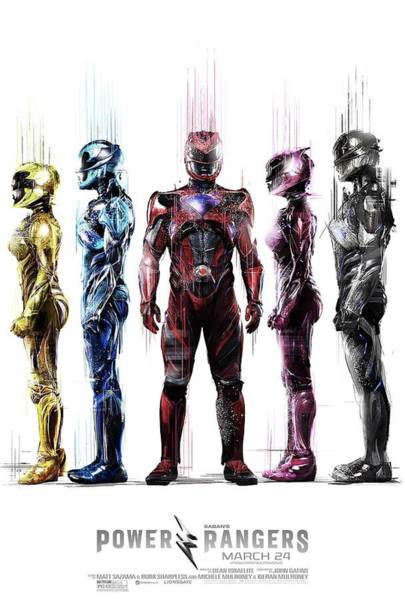 Wall Art - Digital Art - Power Rangers by Geek N Rock