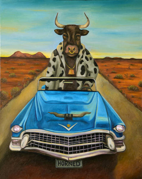 Painting - Power Steering by Leah Saulnier The Painting Maniac