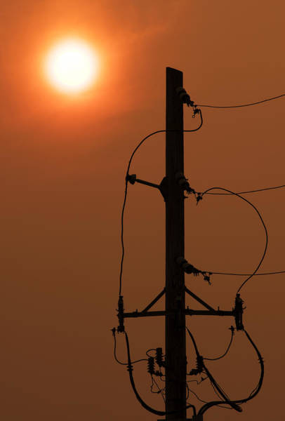 Utility Pole Photograph - Power Up by Don Spenner
