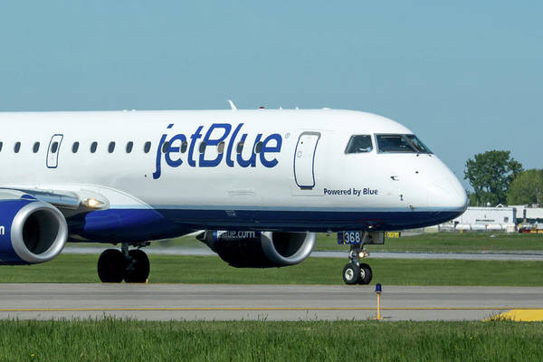 Jetblue Wall Art - Photograph - Powered By Blue by Guy Whiteley