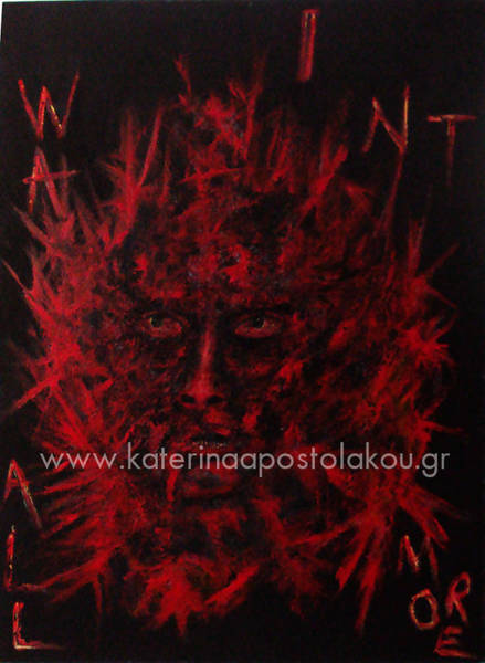 Painting - Powerful Man by Katerina Apostolakou