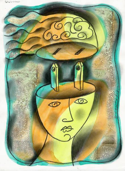 Wall Art - Painting - Powerful Thinking by Leon Zernitsky