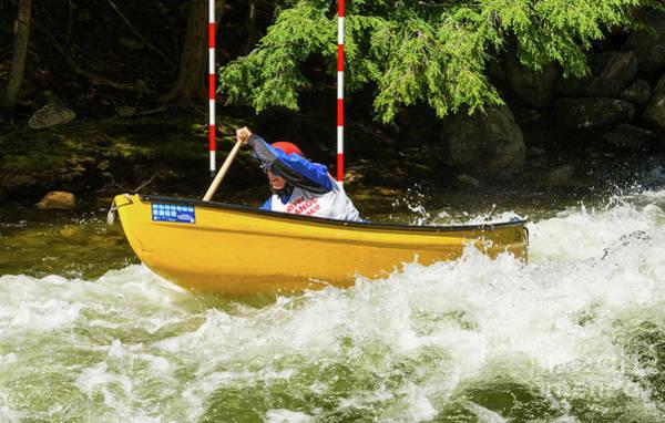 Photograph - Powering Through The Rapids by Les Palenik