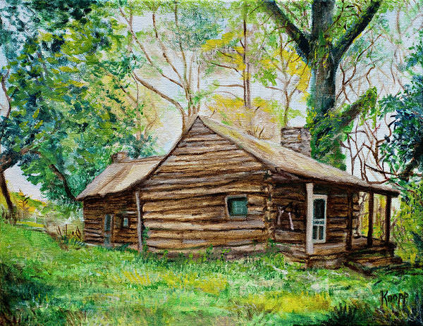 Painting - Antique Old Cabin by Kathy Knopp