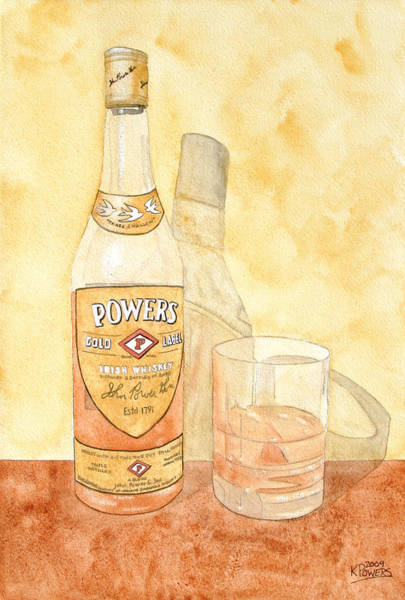 Power Painting - Powers Irish Whiskey by Ken Powers