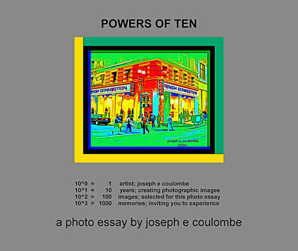 Photograph - Powers Of Ten by Joseph Coulombe