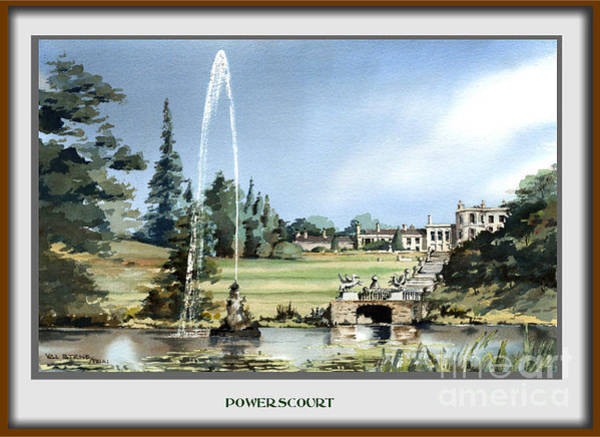 Painting -  Powerscourt Fountain, Enniskerry by Val Byrne
