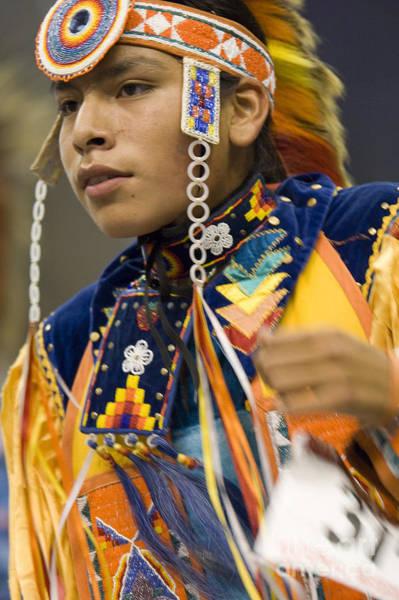 Powwow Wall Art - Painting - Powwow Boy by MotionAge Designs