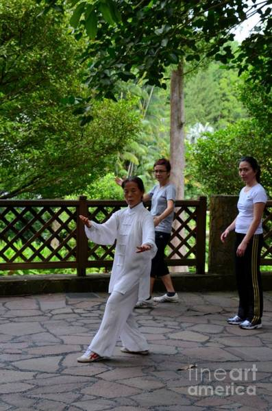 Photograph - Practising Early Morning Tai Chi Exercise In Singapore Park by Imran Ahmed