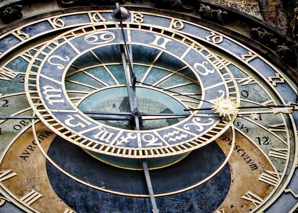 Photograph - Prague Astronomical Clock by Heather Applegate
