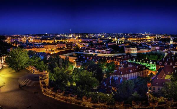 Photograph - Prague At Night by M G Whittingham