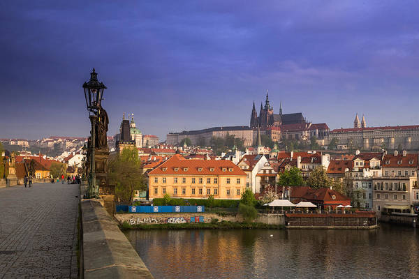Wall Art - Photograph - Prague Castle From Charles Bridge by Bridget Calip