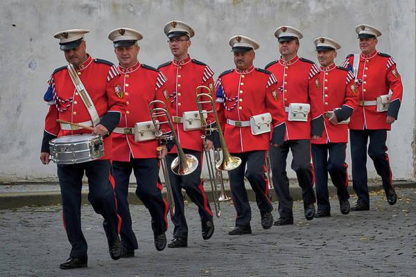 Photograph - Prague Castle Guard Band by Stuart Litoff